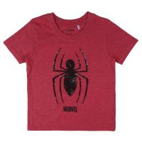 SHORT SLEEVE T-SHIRT PREMIUM SEQUINS SINGLE JERSEY SPIDERMAN