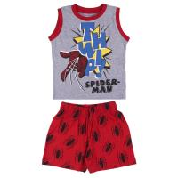 PIJAMA CURTO SUSPENSÓRIOS SINGLE JERSEY SPIDERMAN