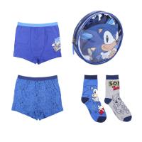 BOXER AND SOCKS PACK 4 PIECES SONIC