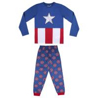 PIJAMA LARGO SINGLE JERSEY AVENGERS CAPITAN AMERICA