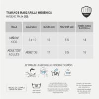 MASCARILLA HIGIÉNICA REUTILIZABLE HOMOLOGADA MICKEY 5