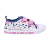 SNEAKERS PVC SOLE WITH LIGHTS COTTON MINNIE