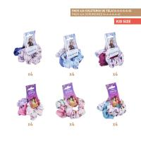 HAIR ACCESSORIES SCRUNCHIES PACK x24 (FROZEN , PRINCESS)