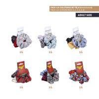 HAIR ACCESSORIES SCRUNCHIES PACK x24 (FRIENDS , WONDER WOMAN)