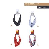 HAIR ACCESSORIES BANDANA PACK x24 (FRIENDS , WONDER WOMAN)