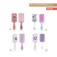 BROSSES À CHEVEUX RECTANGULAIRE PACK x24 (MINNIE)