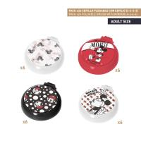 BROSSES À CHEVEUX PLIABLE PACK x24 (MICKEY , MINNIE)