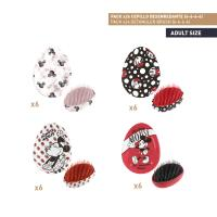 BROSSES À CHEVEUX DESENREDANTE PACK x24 (MICKEY , MINNIE)