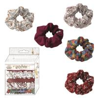 HAIR ACCESSORIES SCRUNCHIES 5 PIECES HARRY POTTER