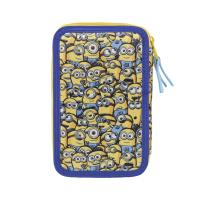 FILLED PENCIL CASE TRIPLE MINIONS 1