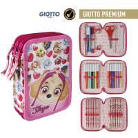 FILLED PENCIL CASE TRIPLE GIOTTO PREMIUM PAW PATROL