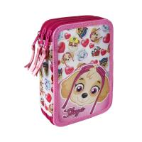 FILLED PENCIL CASE TRIPLE GIOTTO PREMIUM PAW PATROL 1