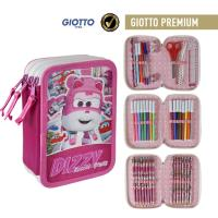 FILLED PENCIL CASE TRIPLE GIOTTO PREMIUM SUPER WINGS