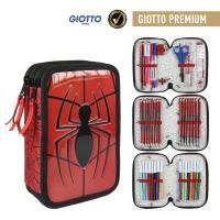 FILLED PENCIL CASE TRIPLE GIOTTO PREMIUM SPIDERMAN