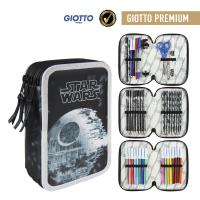 FILLED PENCIL CASE TRIPLE GIOTTO PREMIUM STAR WARS