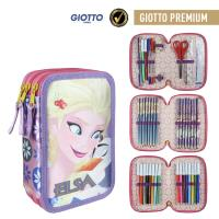FILLED PENCIL CASE TRIPLE GIOTTO PREMIUM FROZEN