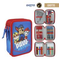 FILLED PENCIL CASE TRIPLE GIOTTO PAW PATROL