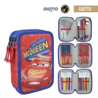 FILLED PENCIL CASE TRIPLE GIOTTO CARS 3