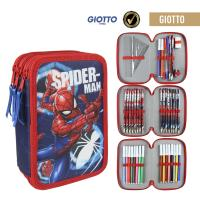 FILLED PENCIL CASE TRIPLE GIOTTO SPIDERMAN