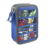 FILLED PENCIL CASE TRIPLE GIOTTO AVENGERS 1