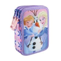 FILLED PENCIL CASE TRIPLE GIOTTO FROZEN 1
