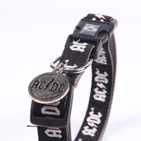 DOGS COLLAR M/L ACDC 1