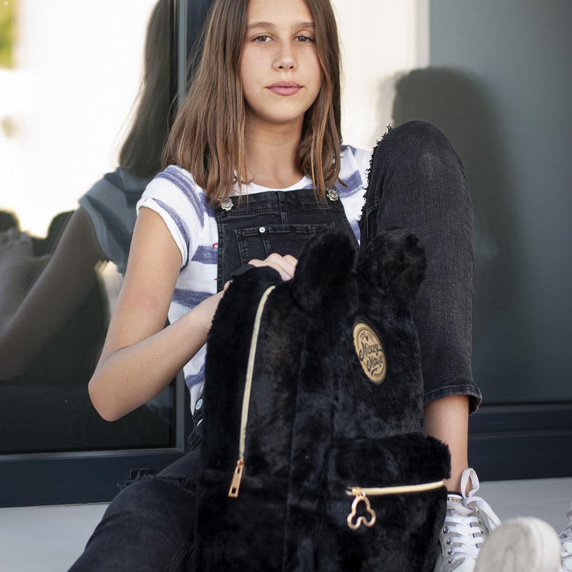 CRD - Mini mochila negra Mickey