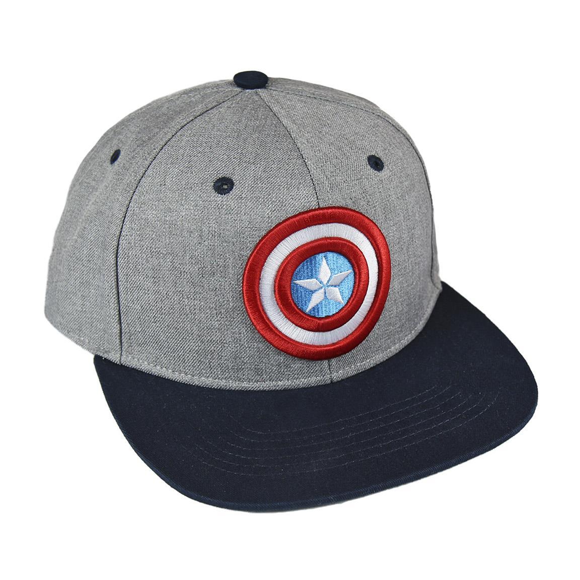 CRD - Gorra gris y azul Capitán América