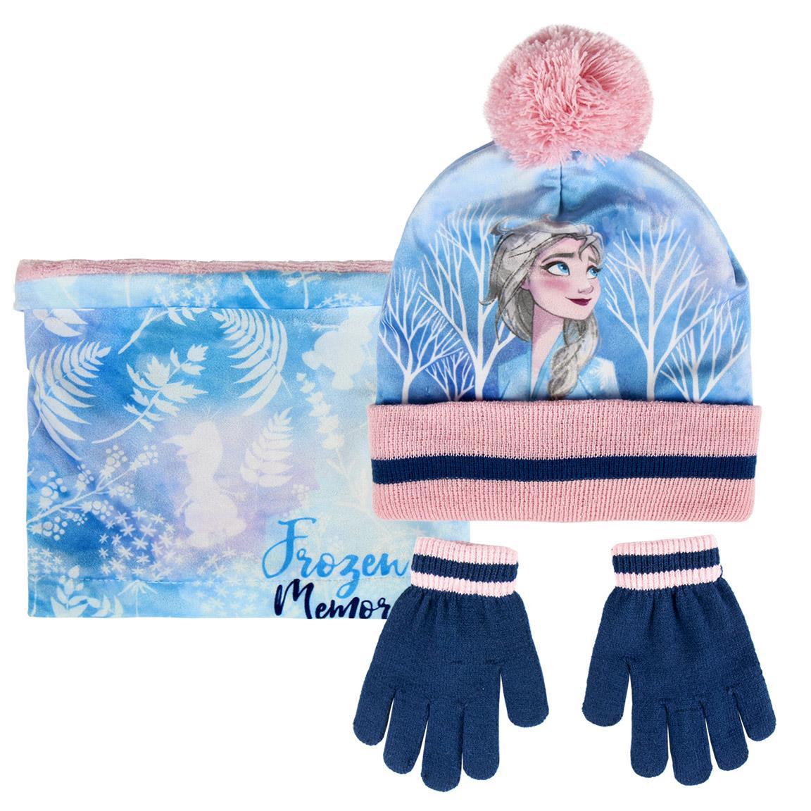 CRD - Frozen II set de guantes, gorro y cuello