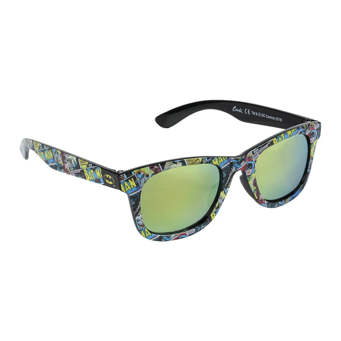 DC Batman Kids Sunglasses with Matching Glasses Carrying Case and UV Protection