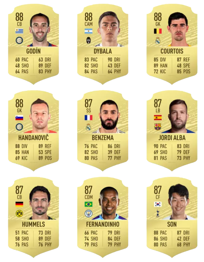 Fifa 20 En iyi 100 oyuncu 37-45