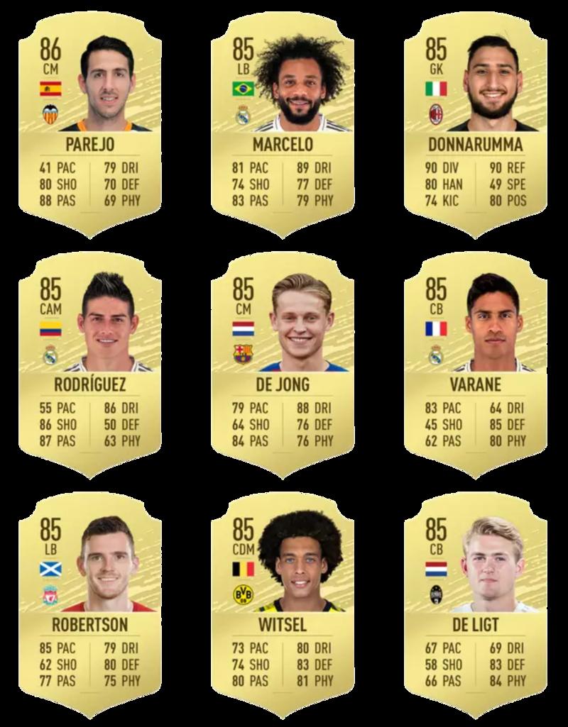 Fifa 20 En iyi 100 oyuncu 73-81