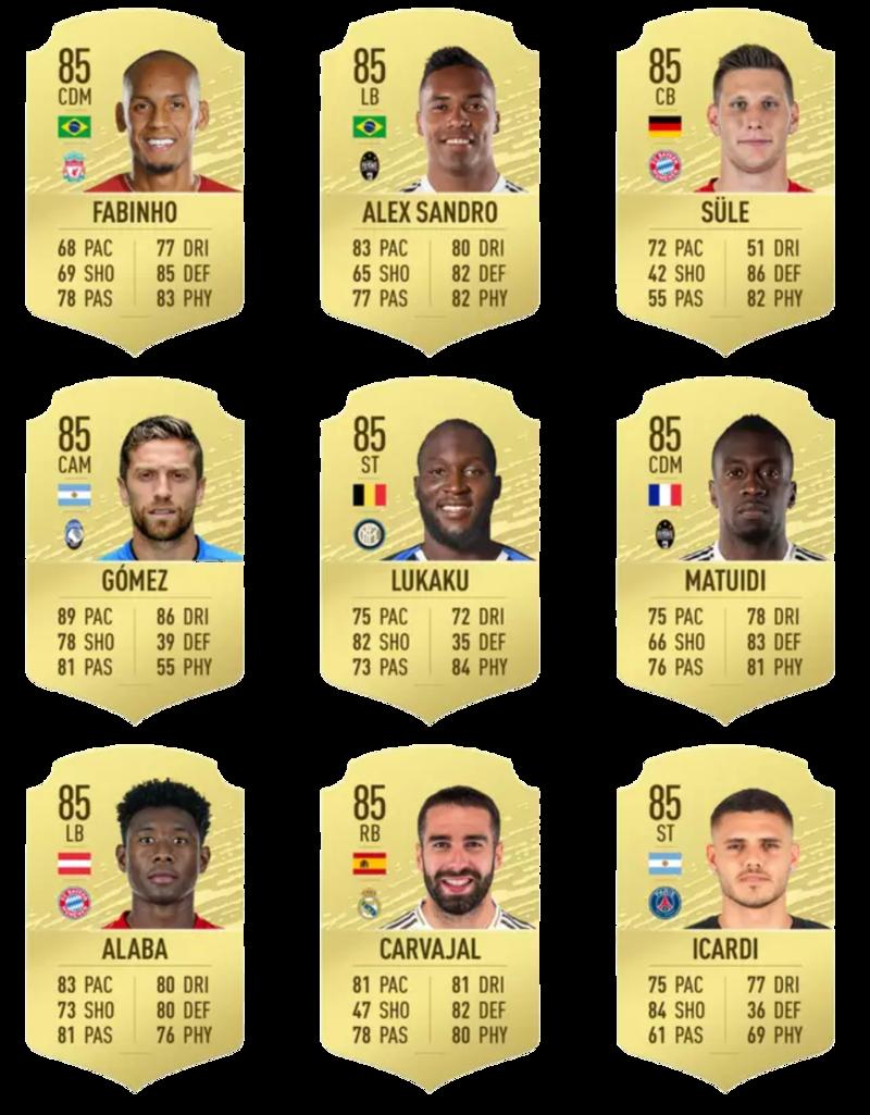 Fifa 20 En iyi 100 oyuncu 82-90