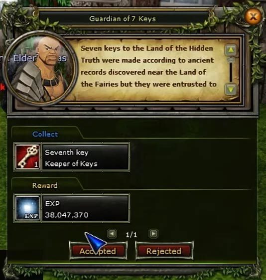 knight online anahtar görevi