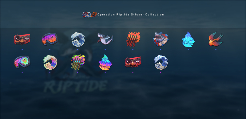 Operation Riptide Sticker Collection