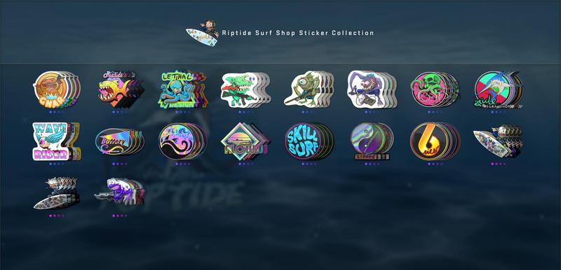 Riptide Surf Shop Sticker Collection