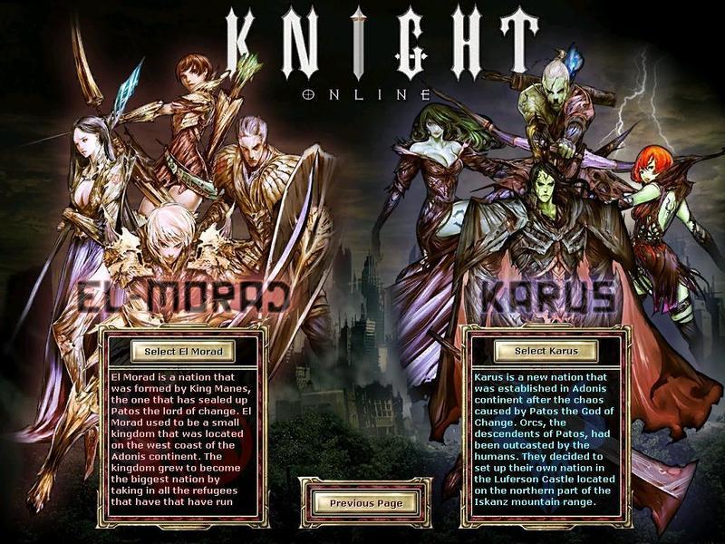 Knight Online Irk ve Karakterleri
