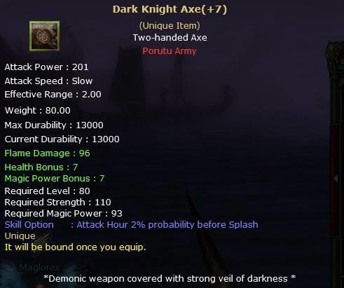 Knight Online Dark Knight Axe-2