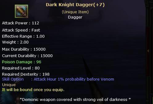 Knight Online Dark Knight Dagger-2