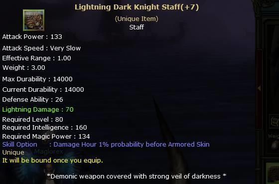 Knight Online Lightning Dark Knight Staff-2