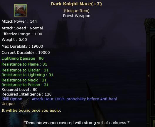 Knight Online Dark Knight Mace-2