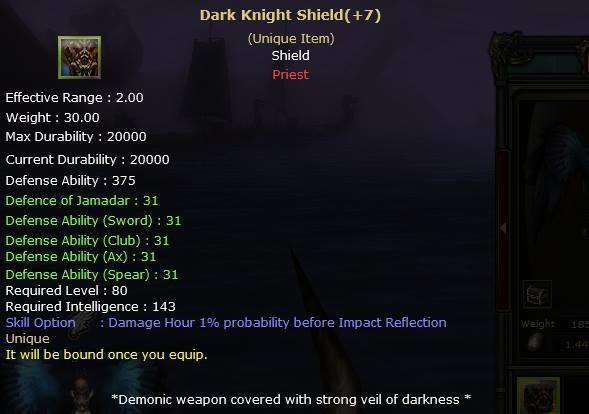 Knight Online Dark Knight Shield-2