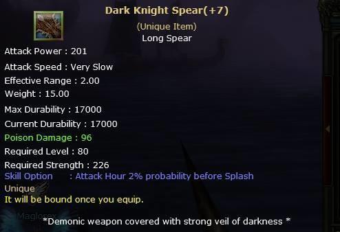 Knight Online Dark Knight Spear-2