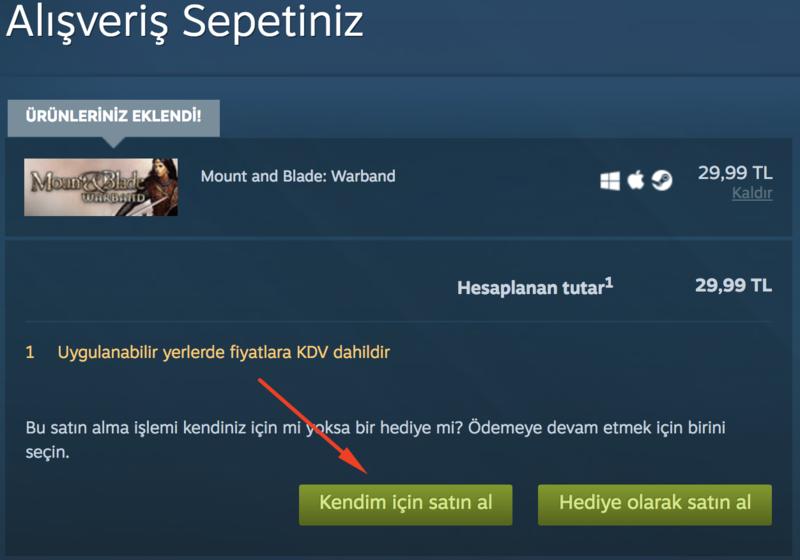 Steam oyun satin alma 2