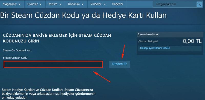 Steam cuzdan kodu nasil yuklenir 3