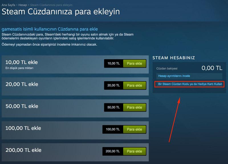 Steam cuzdan kodu nasil yuklenir 2