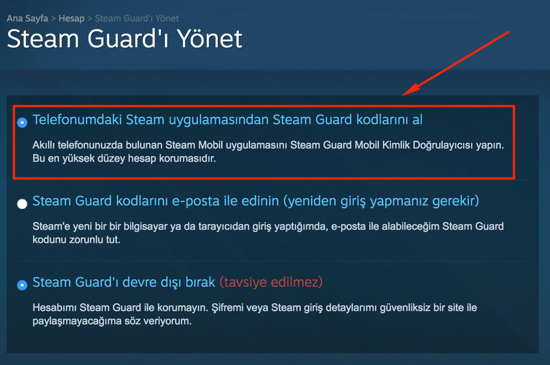 steam guard nasil acilir