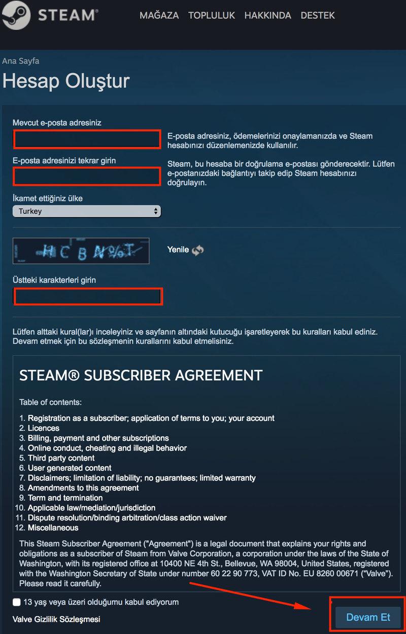 Steam nasil uye olunur 3