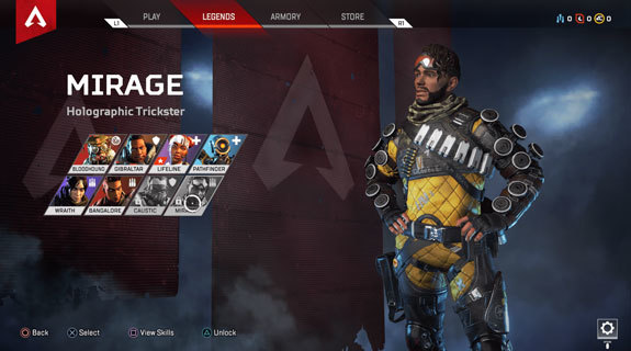Apex Legends Mirage yetenekler