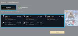 Razer Pin ödeme yöntemini seçin.